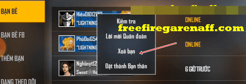 cach huy ket ban trong free fire 1 min